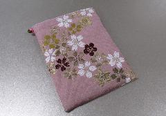 ◆御朱印帳ケース 小 ��5 流れ桜・ピンク