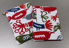 ●御朱印帳&ケースのセット 小 ��20 アコーディオン式 ハッピーバード ※在庫処分特価品