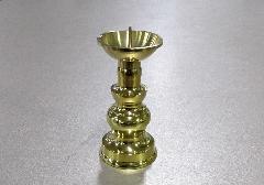 ◆ローソク立・灯立 地火灯 磨き 2.0寸