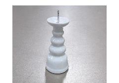 ◆ローソク立・灯立 白無地 3.0寸 NZ