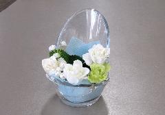 ◆ミニ骨壺置き台 チェアアノーン アーティシャル ホワイト