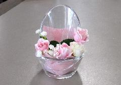 ◆ミニ骨壺置き台 チェアアノーン アーティシャル ピンク