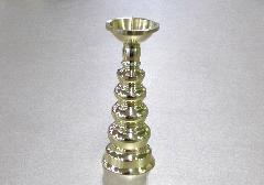 ◆ローソク立・灯立 地火灯 磨き 3.0寸