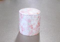 ●骨壺・骨壷 シリコン付骨カメ 2.0寸 桜ころも ピンク