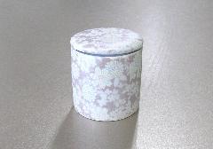 ◇骨壺・骨壷 シリコン付骨カメセレクト2.5寸 華結晶 紫×1ケース(20個)