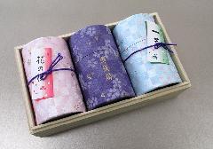 ■煙の少ないお線香 新花の旅 桐箱入 ミニ寸線香とローソクの詰合せ 【奥野晴明堂】