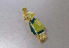 ○輪袈裟・わげさ止め カラー大師 特製柄入 緑