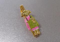 ○輪袈裟・わげさ止め カラー大師 特製柄入 ピンク