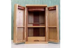 ◆家具調 上置仏壇 ミニ仏壇 さくら市松 上置
