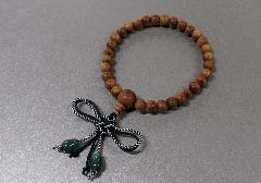 ◆子供用念珠・数珠 こどもじゅず 欅 正紐結 翡翠付