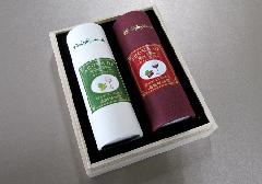 ●煙の少ないお線香 Bourgogneの風 ワインの香り2本入 桐箱入 【奥野晴明堂】