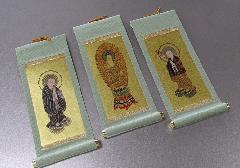 ◆仏壇用掛軸 もえぎ 小 浄土宗用 三幅