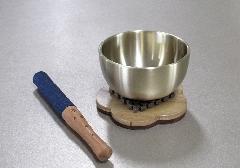 ■リンセット なごみリン(2.3寸)梅型リン台・リン棒セット