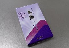 ◎煙の少ないお線香 太陽 紫 大バラ 【日本香堂】