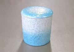 ■骨壺・骨壷 シリコン付骨カメ 3.0寸 ラスターブルー