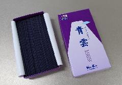 ◆煙の少ないお線香 青雲バイオレット バラ詰 【日本香堂】