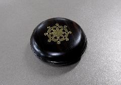 ◆蛤型香合 黒檀 2.5寸 輪宝
