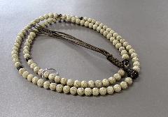●曹洞宗用本連数珠・念珠 星月菩提樹尺7 茶水晶仕立