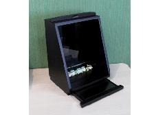 ◆家具調 上置仏壇 ミニ仏壇 ブラック ガラス板フラワーシート付