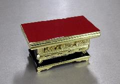 ◆純金 上前彫 華鋲卓 4.5寸 東用