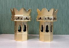 ●木製 総金 八角供花・八角供足 3.5寸 真宗大谷派(東)用