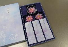 ◆煙の少ないお線香 蓮水香 蓮型ローソク ピンク