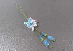 □和柄携帯ストラップ 紫陽花