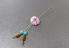 □和柄携帯ストラップ 桜