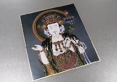 ◆仏画色紙 文殊菩薩 84013