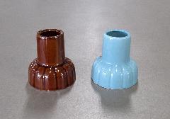 ■墓用線香立 陶器製 青磁・茶