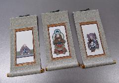 ●仏壇用掛軸 彩美 ヘリ折り 20代 妙心寺派 三幅