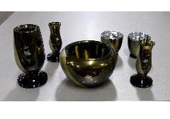 ●仏具6具足 なごみ 3.0寸 琥珀ぼかし 彫金
