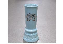 ▲陶器製 線香差 青磁上金ハス×1ケース(30ヶ入)