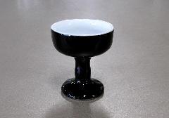 ●仏飯器 仏器 黒無地 中 ×1ケース(30ヶ入)