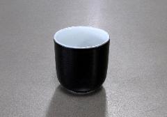 ▲湯呑 黒無地 1.6寸×1ケース(20ヶ入)