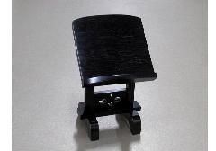 ★本黒檀見台 2.5寸 摺漆仕上 ※在庫処分特価品