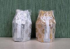 ◇六角骨覆 骨袋六角 2.5寸用 広金 分骨袋 金・銀