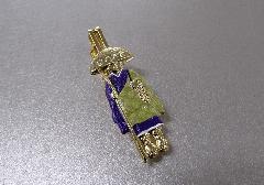 ○輪袈裟・わげさ止め カラー大師 特製柄入 紫