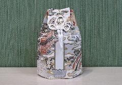●六角骨覆 骨袋六角 2.5寸用 楼閣鳳凰 白 分骨袋