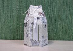 ☆六角骨覆 骨袋六角 2.0寸用 花づくし 梅花紋 分骨袋