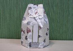 ●六角骨覆 骨袋六角 2.5寸用 花づくし 梅花紋 分骨袋