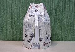 □六角骨覆 骨袋六角 3.0寸用 花づくし 梅花紋 分骨袋