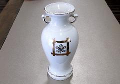 ◇花瓶・サギ型花立 井桁橘サギ 7.0寸