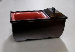 ●焼香用香炉台 やすらぎ香炉5.0寸 木目色
