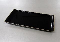 ◇焼香盆 大 黒フチ金 PC製