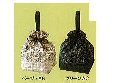 ◆和柄手提げ巾着 麻の葉柄 ×1ロット(100個)