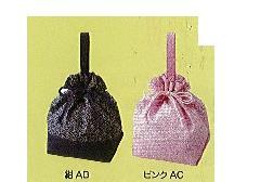 ◆和柄手提げ巾着 青梅波柄 ×1ロット(100個)