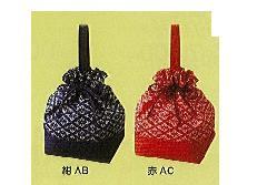 ◆和柄手提げ巾着 花菱柄 ×1ロット(100個)