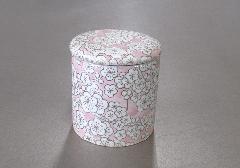 ★骨壺・骨壷 シリコン付骨カメ 2.0寸 満開梅 ピンク
