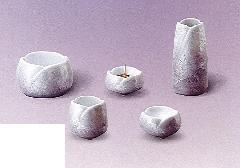 ◇やわらぎ5点セット(陶器製) 九谷銀彩パープル